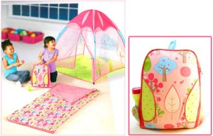 kids play tent pink